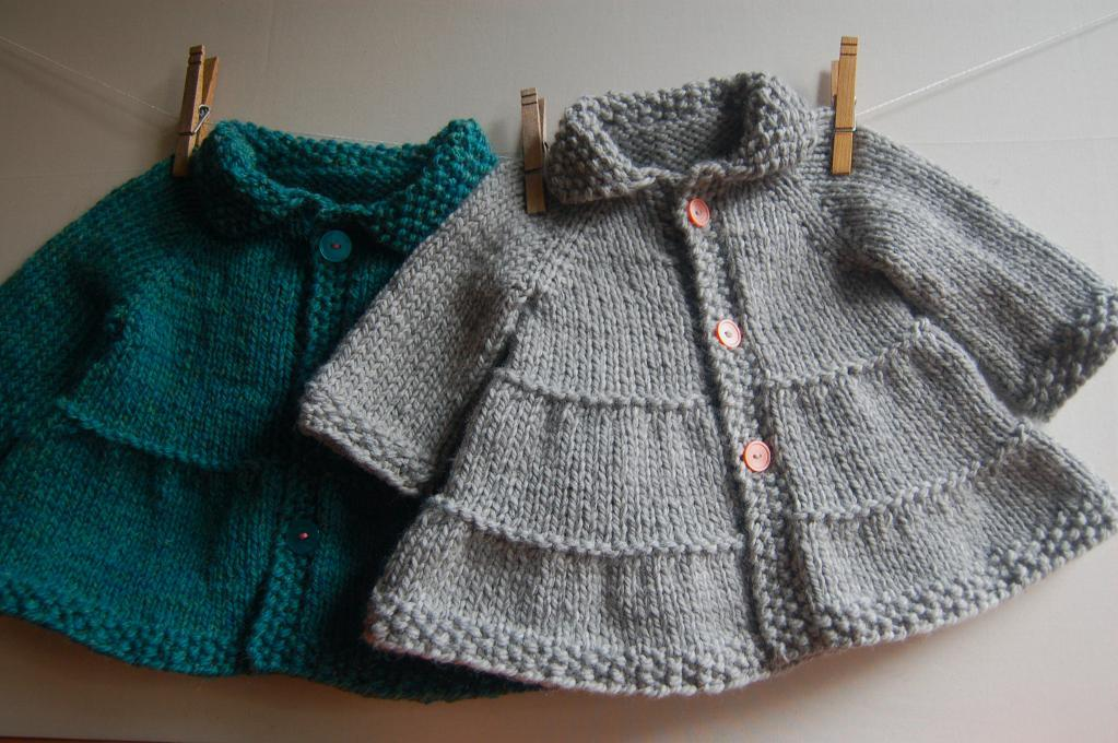 free knitting patterns for children baby + toddler tiered coat and jacket knitting pattern UWIHISR