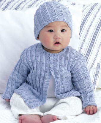 free knitting patterns for children free-baby-cardigan-and-hat-knitting-pattern WZAWNWH
