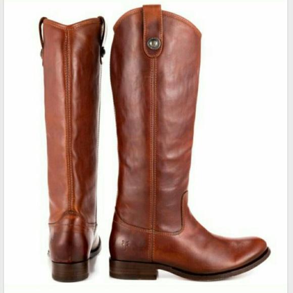 fry boots frye cognac melissa button boots HEZIMTS