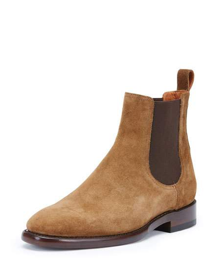 fryeweston suede chelsea boot, chestnut HUSPHSD