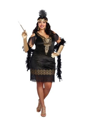 fun 1920s flapper dresses u0026 quality flapper costumes adult swanky flapper  plus size costume CWVHHAE