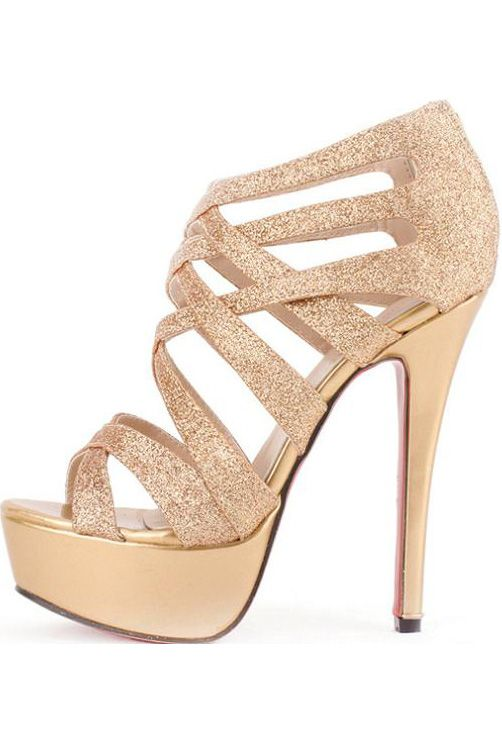 gold high heels $30.99 gold faux leather glitter strappy gladiator platform heels @  maykool.com KWNJIWO