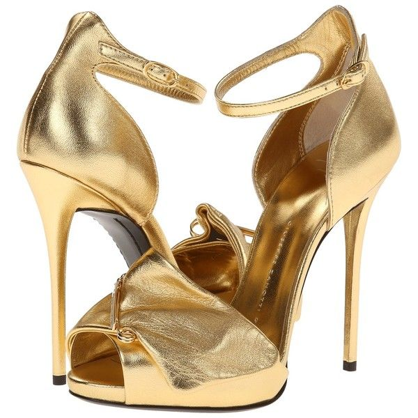 gold high heels giuseppe zanotti i40089 womenu0027s shoes, gold ($518) ❤ liked on polyvore  featuring shoes ZIPNXGH