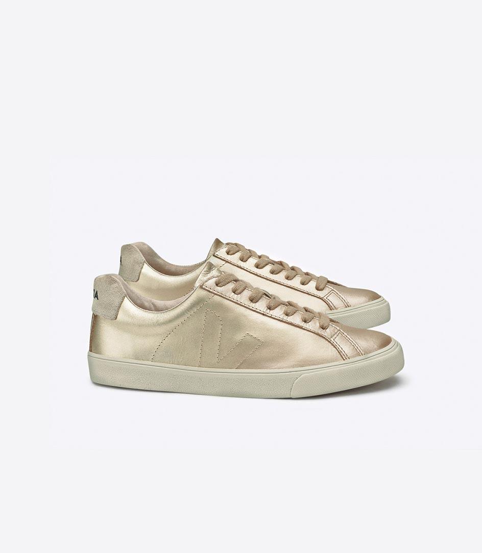 gold sneakers veja esplar leather gold - en - veja store ZZIVWJN