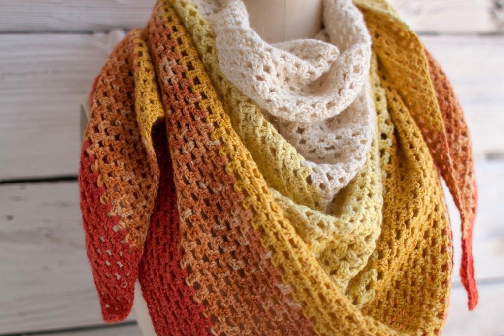 granny crochet shawl PXGZRKM