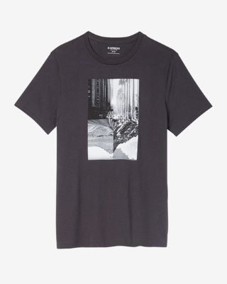 graphic t shirts ... city reflection crew neck graphic tee UVEUVEX