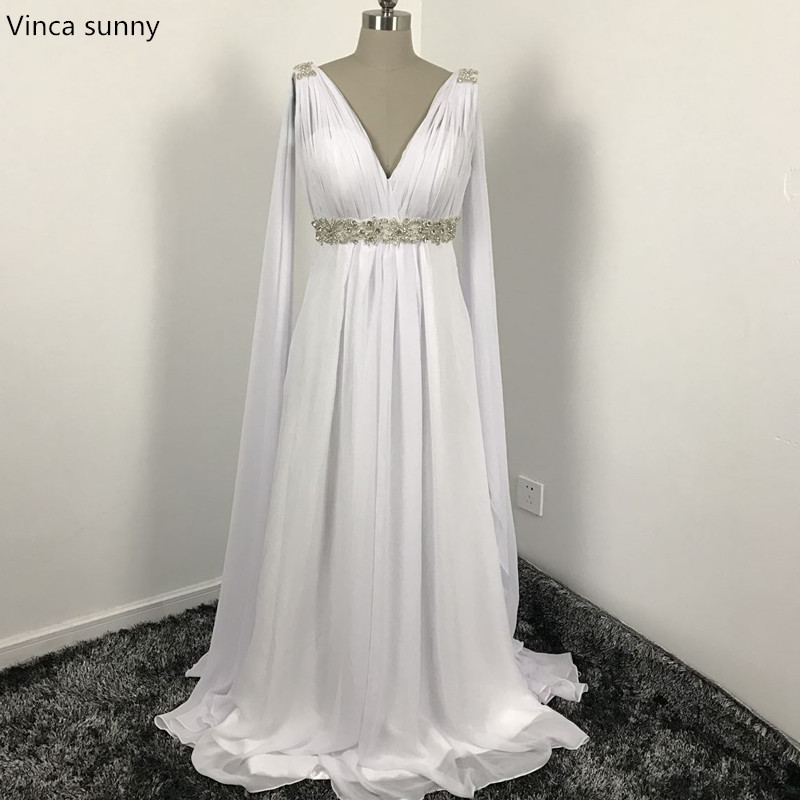 grecian dress aliexpress.com : buy greek style wedding dresses with watteau train 2017 v  neck long GTNTPDG