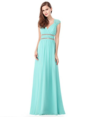 grecian dress ever pretty womens floor lenth short sleeve graduation dress 4 us aqua SSRFOFB