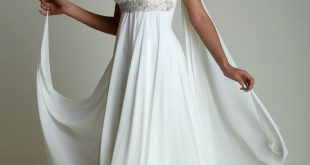 grecian dress greek style wedding dress. really like this dress, but would prefer lace to  the VVRGYRX