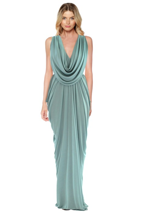 grecian dress sheike - grecian maxi dress - front SWVTRKX