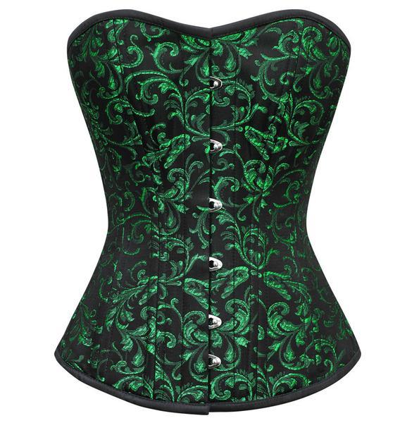 green corset aarya gothic waist training corset - demo for corset TGKNFNV