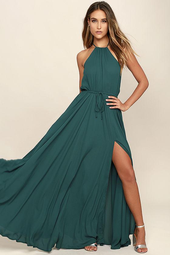 green dress essence of style forest green maxi dress 1 AEGVZXM