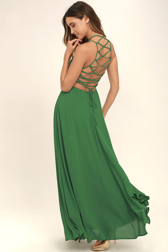 green dress strappy to be here green maxi dress 1 ZMPOUQS