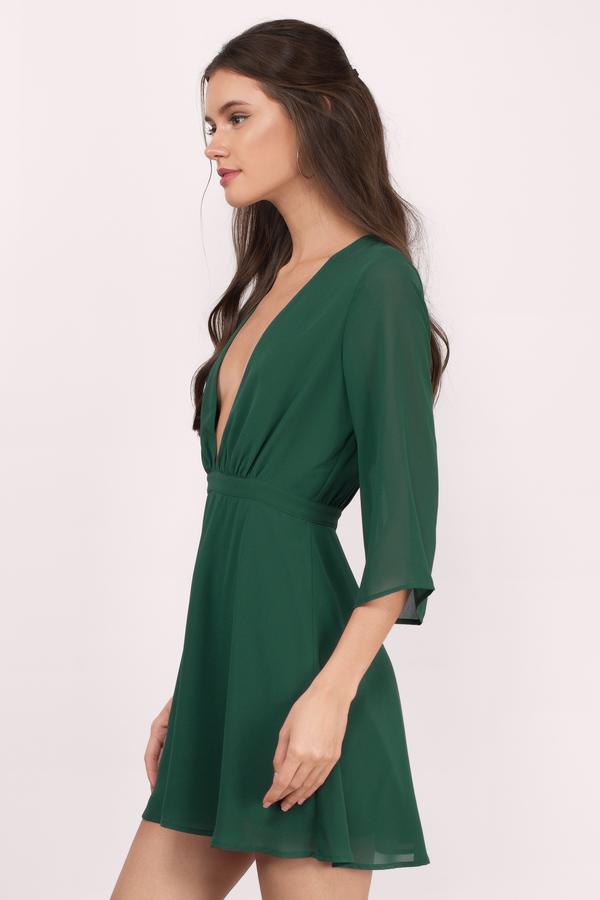 green dress ... take it slow green skater dress ... TJNWZNU