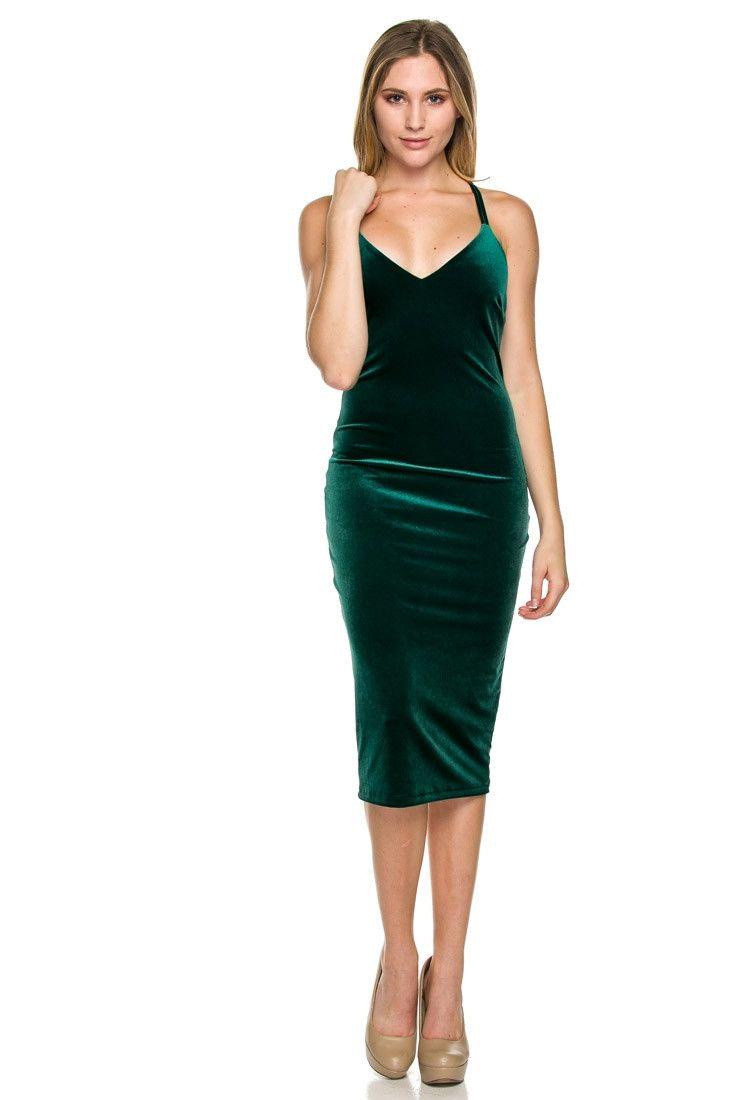 green dress the spark green velvet bodycon dress XRREKIG