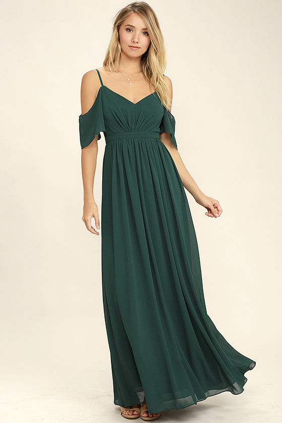 green maxi dress stunning maxi dress - gown - dark green dress - formal dress - $84.00 ZLPHPWR