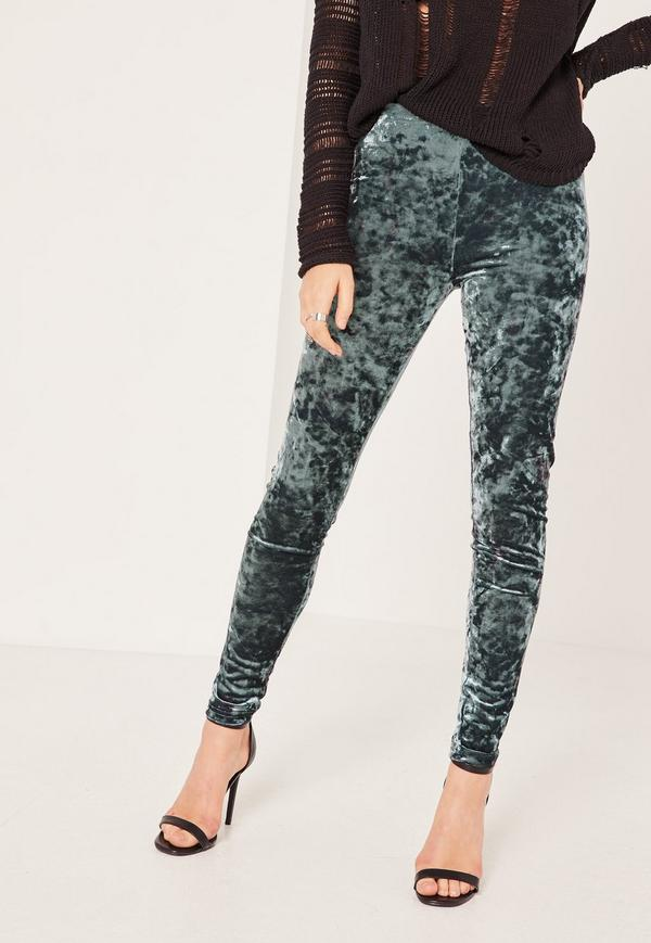 Velvet leggings for women