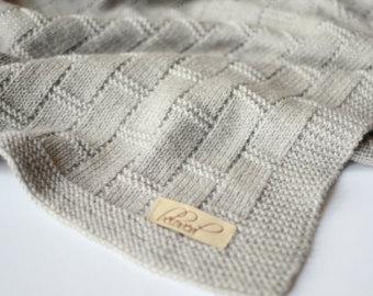 hand knit baby blanket, baby boy blanket, knitted baby girl blanket, hand  knitted OEFGIVX