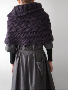 hand-knitted cape WLFMTOA
