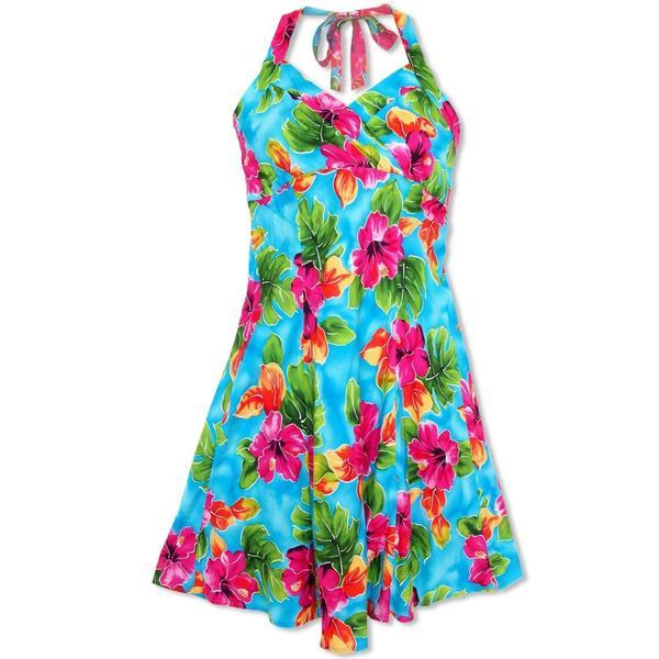 hawaiian dresses hoopla blue napali hawaiian dress - lavahut NBYYDRM