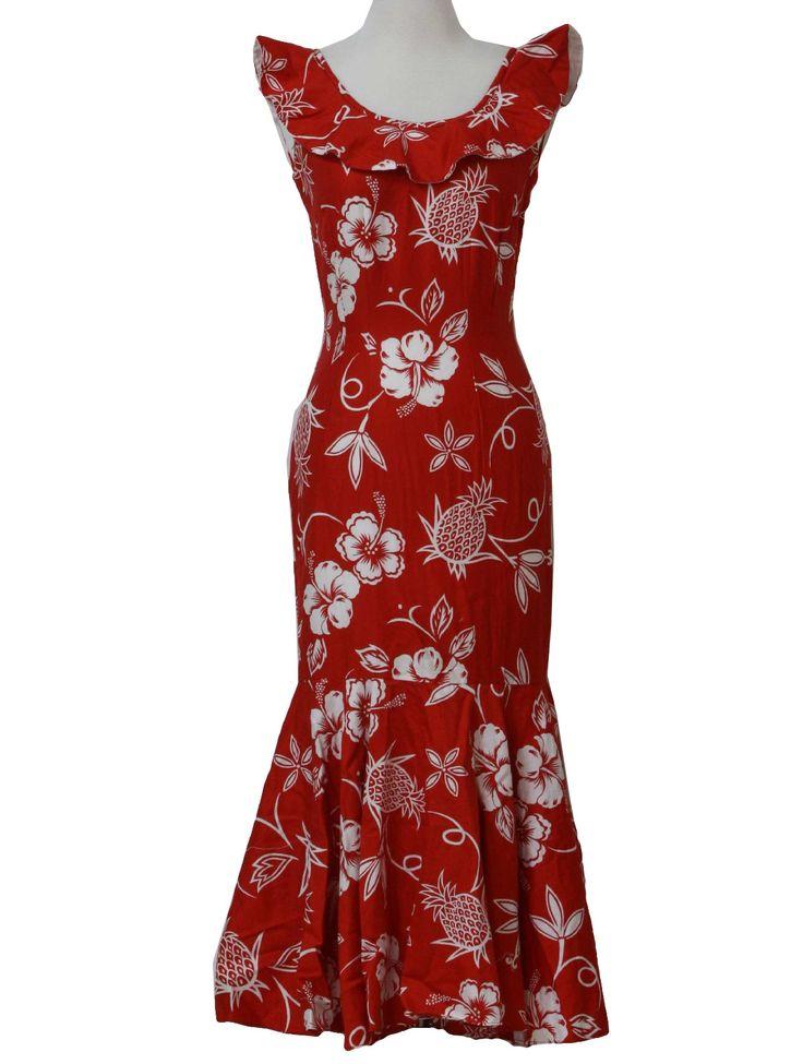 hawaiian dresses vintage 1960u0027s hawaiian dress - the print is a little hokey but i love it UKWQIAD