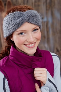 headband knitting pattern dark leaf ear warmers · knit headband pattern DXOXHCG