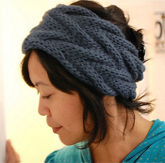 headband knitting pattern free knitting pattern for vanessa wide cable headband and more headband  knitting patterns ... RANFPSH
