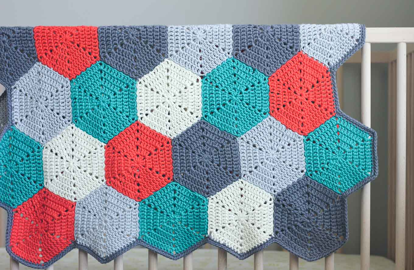 hexagon crochet pattern this free crochet afghan pattern is customizable, so you can use it to make WRXCAEC
