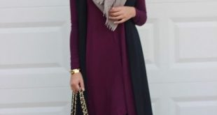 hijab fashion pinning for color combo maroon-long-tunic-with-ankle-boots- how to wear  ankle boots with hijab ZORQSOI
