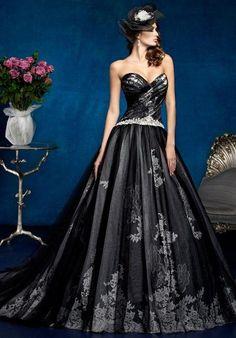 image result for black wedding dresses RXJCZEK