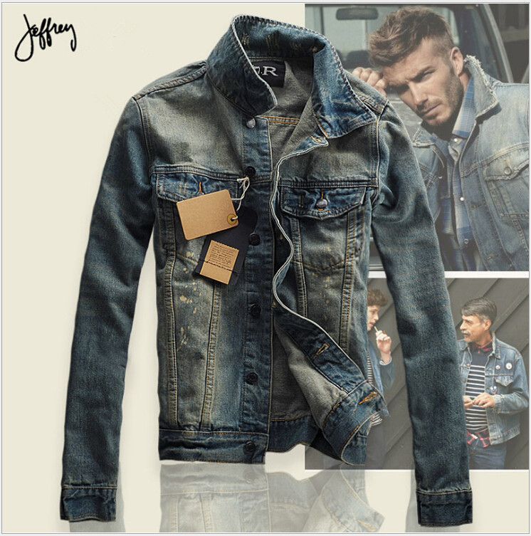 jean jackets for men 2016 autumn men jean jacket men denim jackets for men stand collar 100%  cotton CVWXYYW