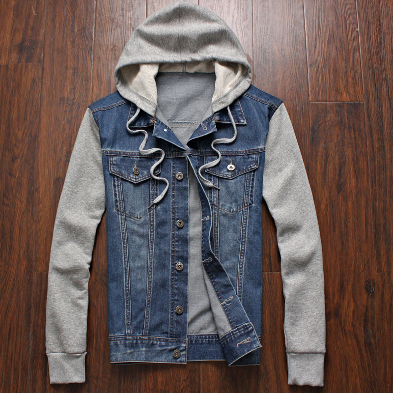 jean jackets for men aliexpress.com : buy 2017 spring autumn man hood denim jacket men  sportswear casual casual GARUOPE