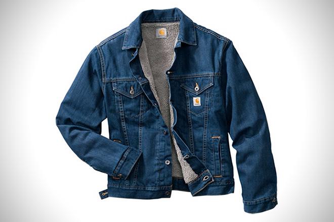 jean jackets for men carhartt sherpa-lined denim jacket QRDZLJE