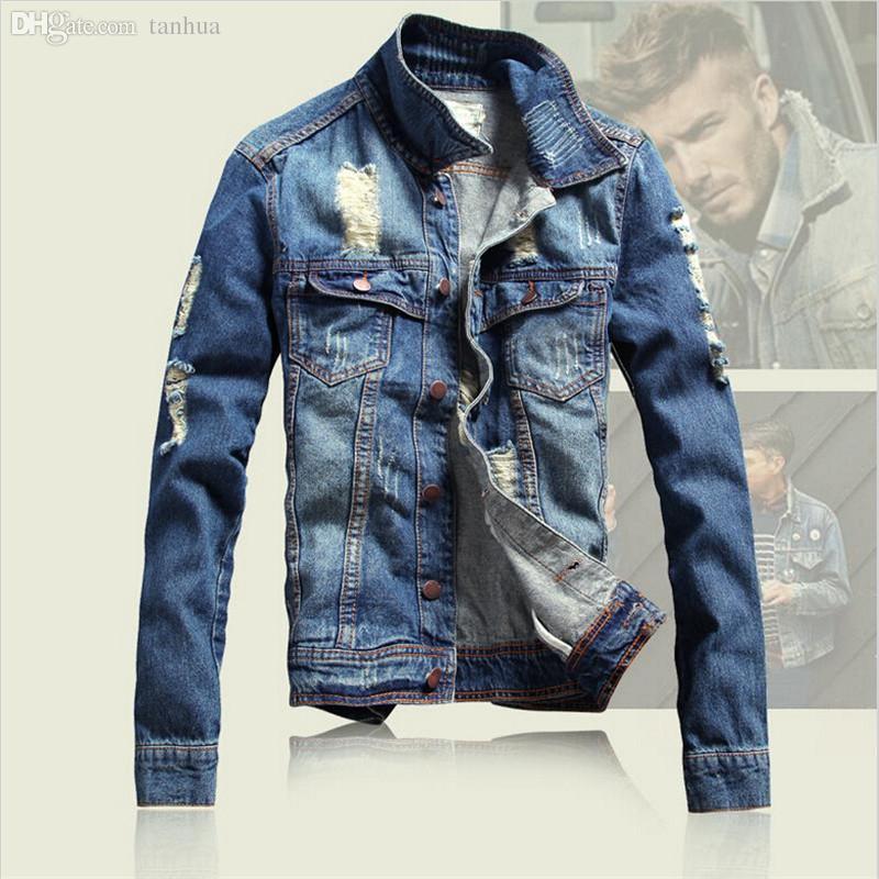 jean jackets for men fall ripped denim jacket 2016 menu0027s winter jean jacket men vintage denim  jackets for MCKVSSS