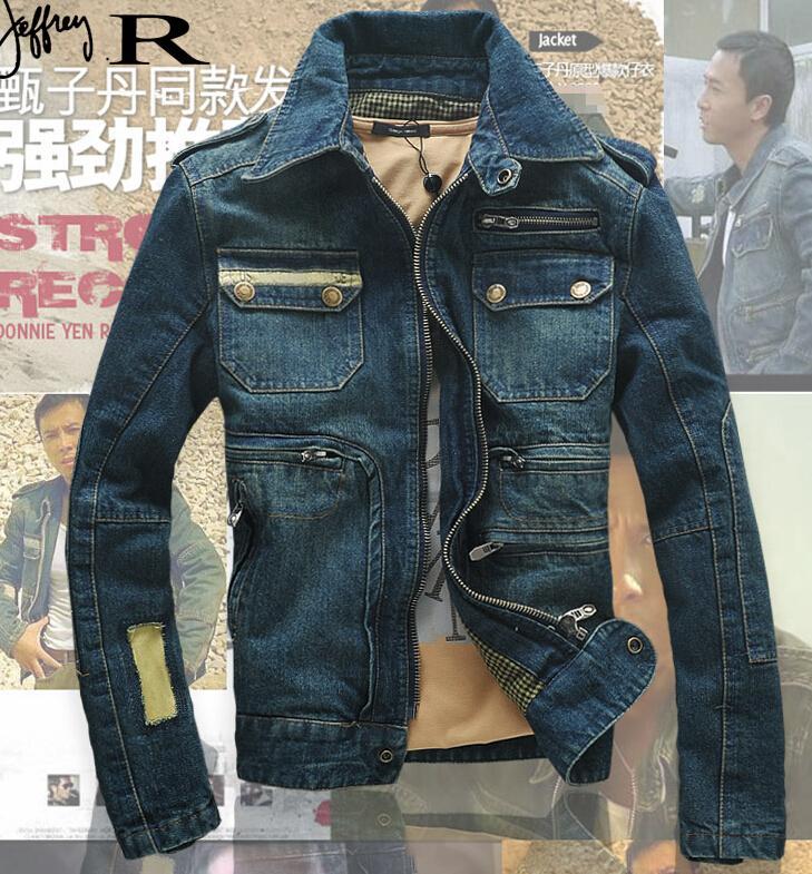 jean jackets for men vintage military jacket new 2015 denim jacket men fashion brand hole slim  blue jean YWHHFAH