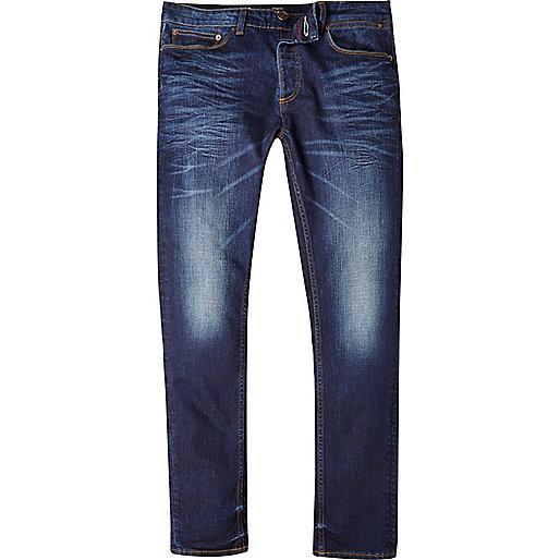 jeans for men mid blue wash sid skinny stretch jeans. u0027 GCMWDUO