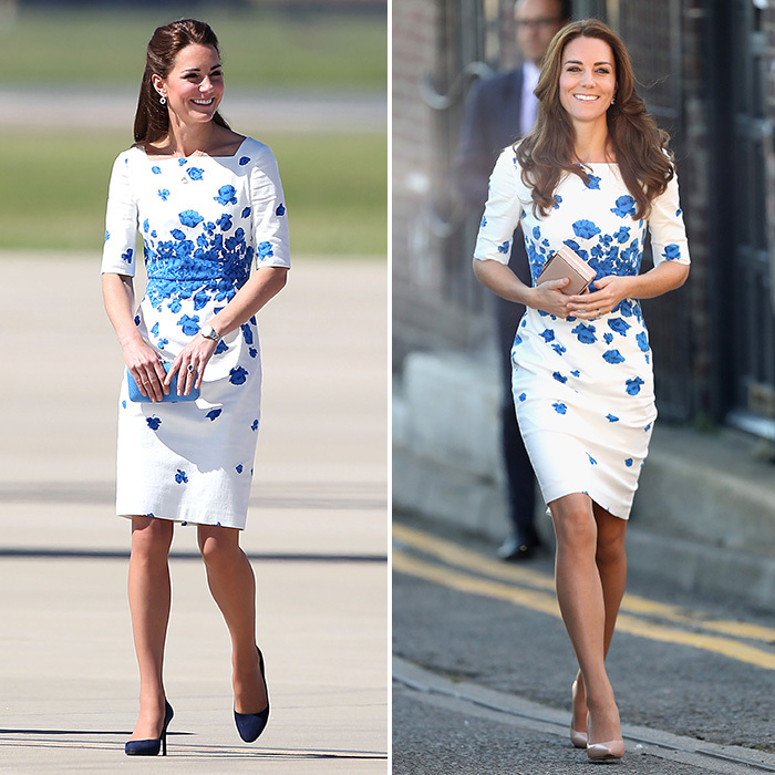 kate middleton style she wore an lk bennett poppy print creation at brisbane airport in  australia in JOVDBMM