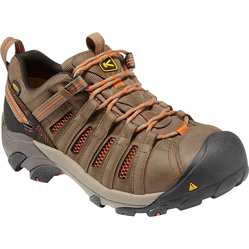 keen 1007970 flint low waterproof steel toe work shoes - 1007970 SGOLEGM