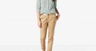khaki pants for women boyfriend chino | golden honey | dockers® united states (us) LTMIQOX