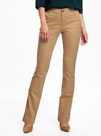 khaki pants for women mid-rise boot-cut khakis for women YDJWOYG