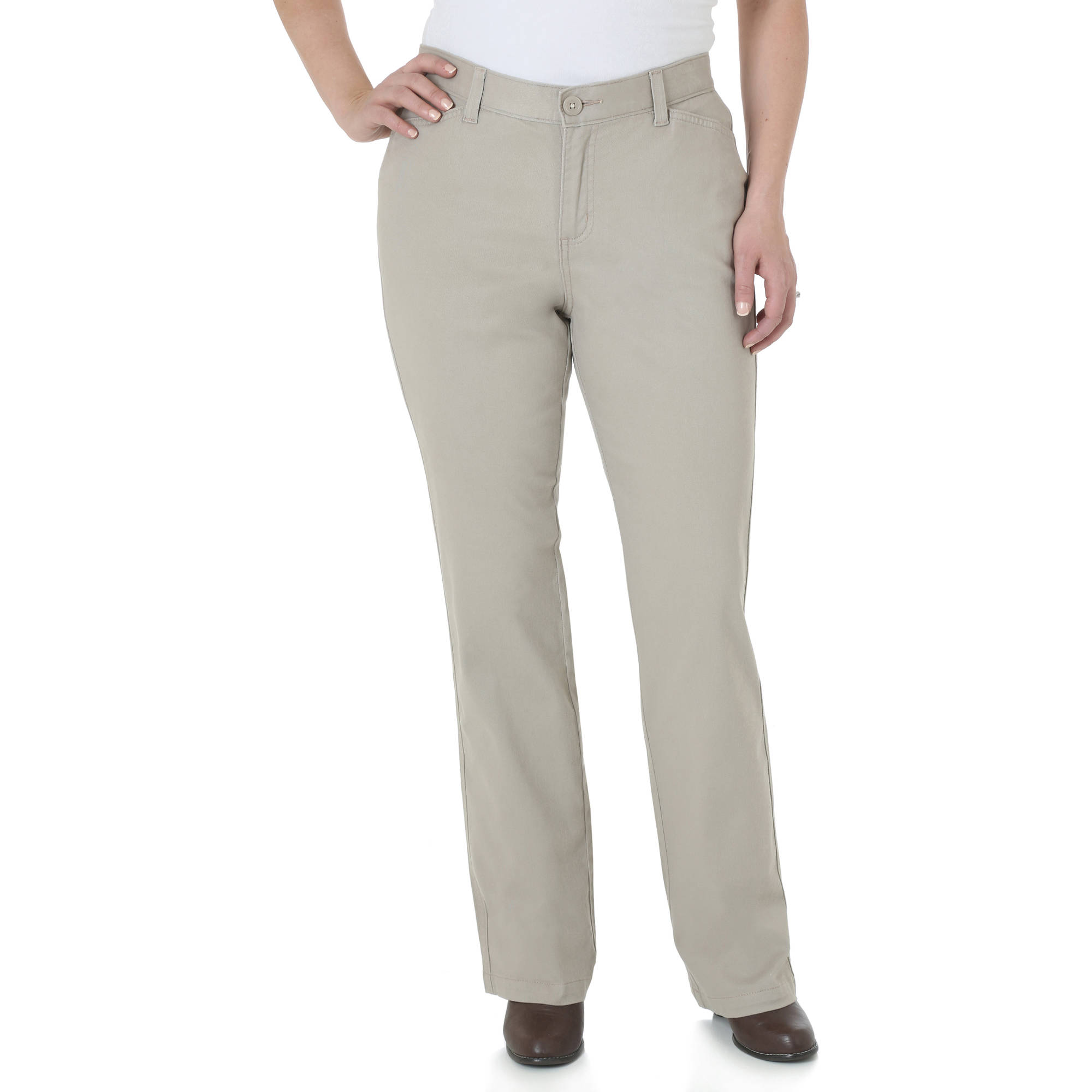 khaki pants for women the riders by lee womenu0027s classic straight leg stretch woven pants  available in regular, FLNHBEW