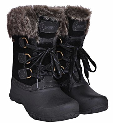 khombu boots khombu womens the slope winter snow boots (black, size 06) BQNGLMQ