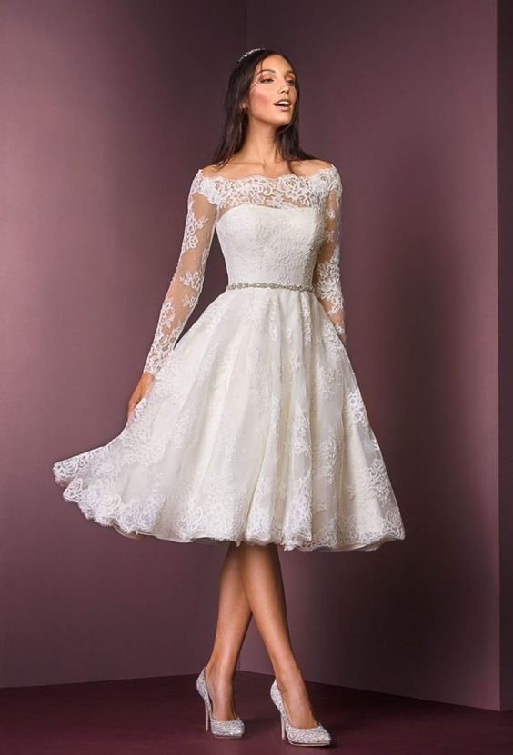 Short Knee Length Wedding Dresses 65 Off Teknikcnc Com