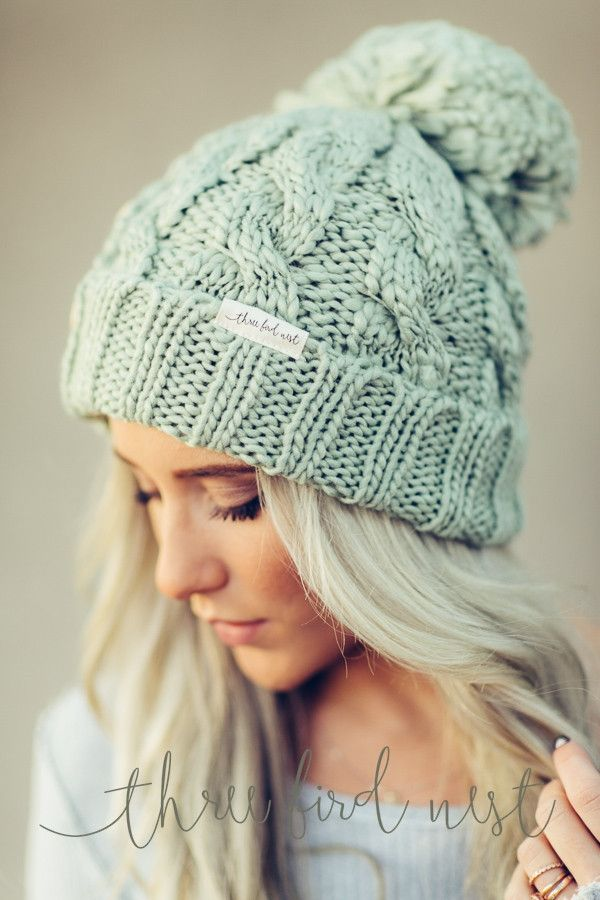 Knit beanie can complement any dress or any hairstyle