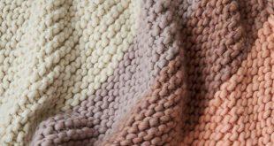 knit blanket colorful corner blanket | purl soho alternate yarn: super tuff puff at knit  picks JCUDPJI