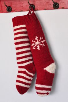 knit christmas stockings hand knit christmas stocking traditional red by campkitschyknits, $32.00 YNKAKEY