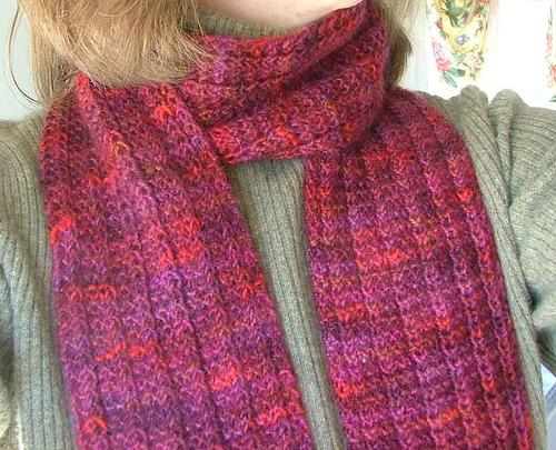 knit scarf pattern one row hand spun scarf JGYGESB