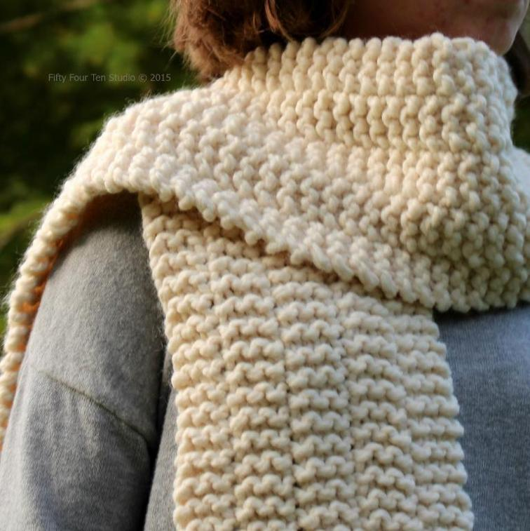 knit scarf pattern side line scarf free knitting pattern CHKYTKZ