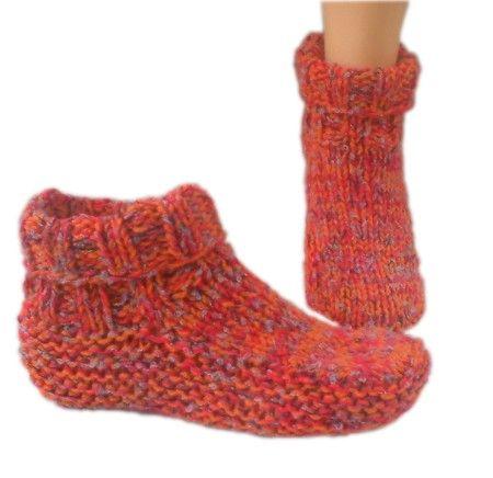 knit slippers easy knit slipper socks pattern | slipper sock patterns - catalog of  patterns WRKBLQH