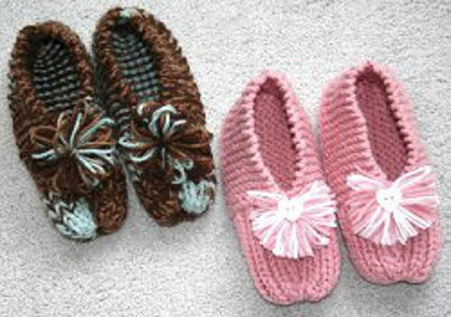 knit slippers make these super cute slippers and lounge around the house in comfort and  warmth. QTBIFGB